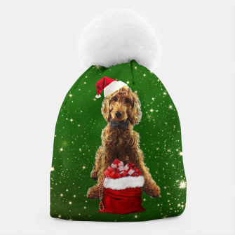 Thumbnail image of Christmas Dog Golden Doodle Beanie, Live Heroes