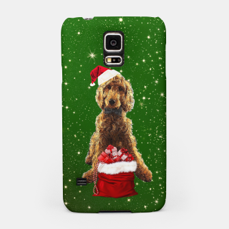 Thumbnail image of Christmas Dog Golden Doodle Samsung Case, Live Heroes