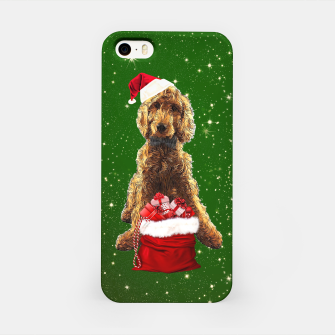Imagen en miniatura de Christmas Dog Golden Doodle iPhone Case, Live Heroes