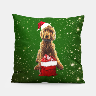 Imagen en miniatura de Christmas Dog Golden Doodle Pillow, Live Heroes