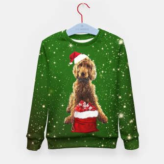 Miniatur Christmas Dog Golden Doodle Kid's sweater, Live Heroes