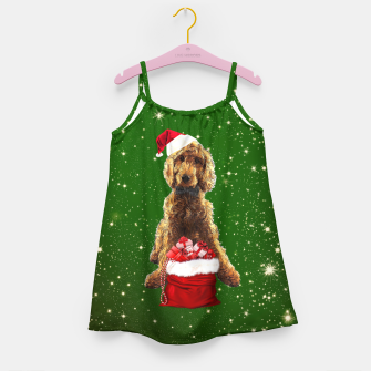 Imagen en miniatura de Christmas Dog Golden Doodle Girl's dress, Live Heroes