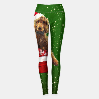 Imagen en miniatura de Christmas Dog Golden Doodle Leggings, Live Heroes