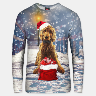 Thumbnail image of Christmas Golden Doodle Unisex sweater, Live Heroes
