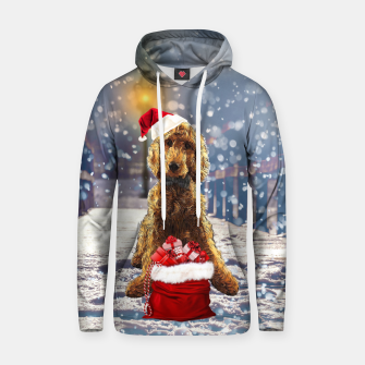 Thumbnail image of Christmas Golden Doodle Hoodie, Live Heroes