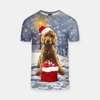 Thumbnail image of Christmas Golden Doodle T-shirt, Live Heroes