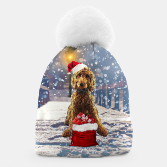 Thumbnail image of Christmas Golden Doodle Beanie, Live Heroes