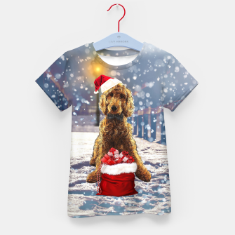 Thumbnail image of Christmas Golden Doodle Kid's t-shirt, Live Heroes