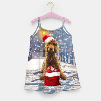 Imagen en miniatura de Christmas Golden Doodle Girl's dress, Live Heroes