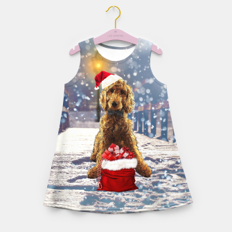 Imagen en miniatura de Christmas Golden Doodle Girl's summer dress, Live Heroes