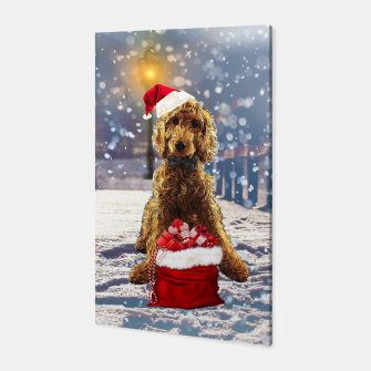 Thumbnail image of Christmas Golden Doodle Canvas, Live Heroes