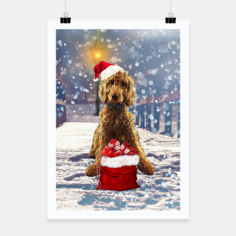 Thumbnail image of Christmas Golden Doodle Poster, Live Heroes