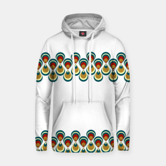 Thumbnail image of Vintage paon on white Sudadera con capucha, Live Heroes