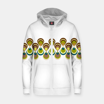 Thumbnail image of Vintage paon on white 2 Sudadera con capucha y cremallera , Live Heroes