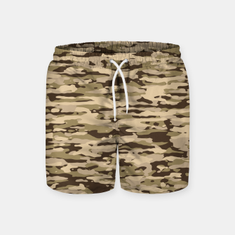 Miniatur Desert Camouflage Pattern  Badeshorts, Live Heroes
