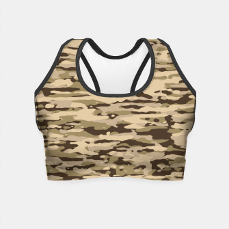 Thumbnail image of Desert Camouflage Pattern  Crop Top, Live Heroes
