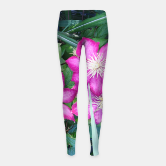 Thumbnail image of pink clematis Legginsy dziewczęce, Live Heroes