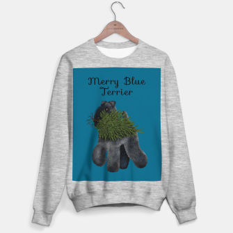 Thumbnail image of Merry Blue Terrier (Blue Background) Sweater regular, Live Heroes