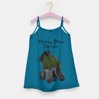 Thumbnail image of Merry Blue Terrier (Blue Background) Girl's dress, Live Heroes