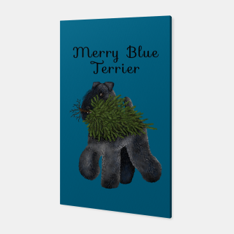 Thumbnail image of Merry Blue Terrier (Blue Background) Canvas, Live Heroes