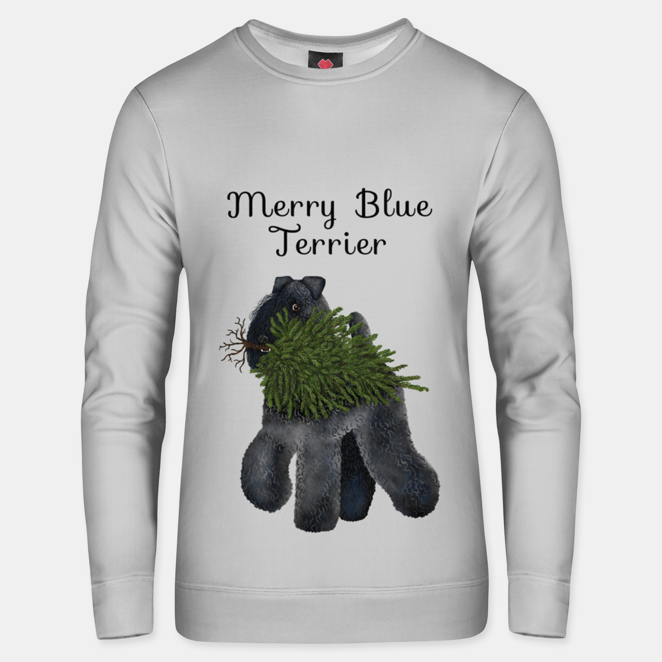 Image of Merry Blue Terrier (Yellow Background) Unisex sweater - Live Heroes