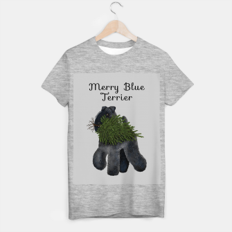 Thumbnail image of Merry Blue Terrier (Yellow Background) T-shirt regular, Live Heroes