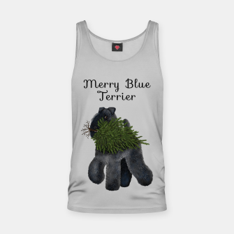 Miniature de image de Merry Blue Terrier (Yellow Background) Tank Top, Live Heroes