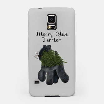 Miniature de image de Merry Blue Terrier (Yellow Background) Samsung Case, Live Heroes