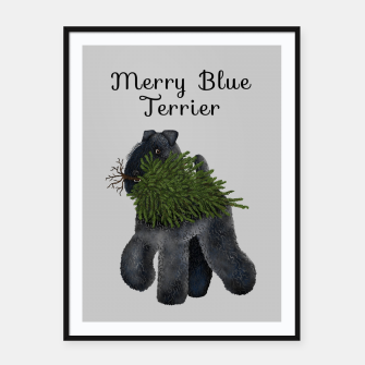 Miniature de image de Merry Blue Terrier (Yellow Background) Framed poster, Live Heroes