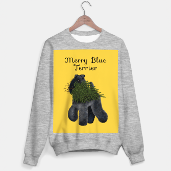 Miniature de image de Merry Blue Terrier (Yellow Background) Sweater regular, Live Heroes