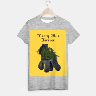 Miniature de image de Merry Blue Terrier (Yellow Background) T-shirt regular, Live Heroes
