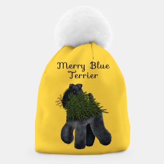 Thumbnail image of Merry Blue Terrier (Yellow Background) Beanie, Live Heroes
