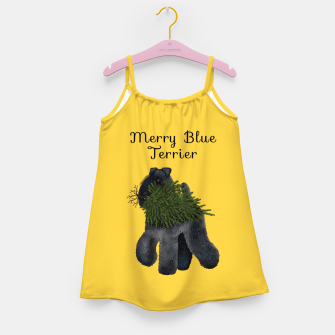 Thumbnail image of Merry Blue Terrier (Yellow Background) Girl's dress, Live Heroes