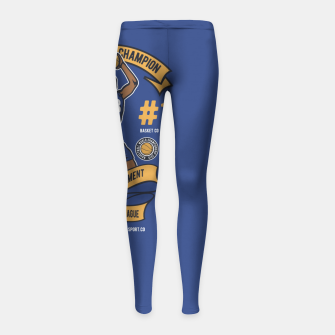 Thumbnail image of BASKETBALL CHAMPION - Athletic Department. Girl's leggings, Live Heroes