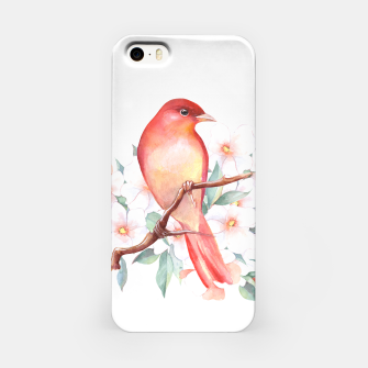 Thumbnail image of Red bird on branch iPhone Case, Live Heroes