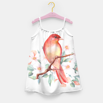 Thumbnail image of Red bird on branch Girl's dress, Live Heroes