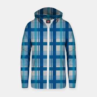 Thumbnail image of Blue Scottish Style  Sudadera con capucha y cremallera , Live Heroes