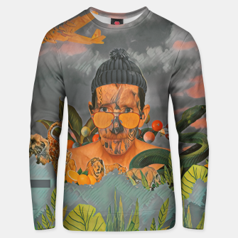Animals in the jungle Unisex sweater imagen en miniatura