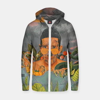 Thumbnail image of Animals in the jungle Zip up hoodie, Live Heroes