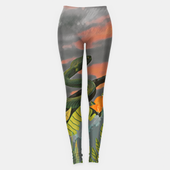 Animals in the jungle Leggings imagen en miniatura