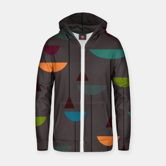 Thumbnail image of zappwaits retro Zip up hoodie, Live Heroes