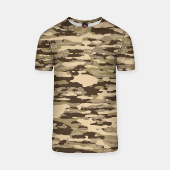 Miniatur Desert Camouflage Pattern Mosaic Style T-Shirt, Live Heroes