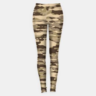 Miniatur Desert Camouflage Pattern Mosaic Style Leggings, Live Heroes