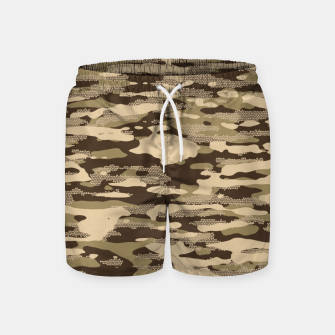 Miniatur Desert Camouflage Pattern Mosaic Style Badeshorts, Live Heroes
