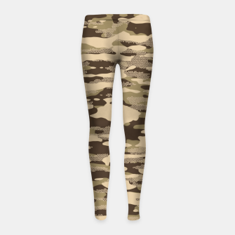 Miniatur Desert Camouflage Pattern Mosaic Style Kinder-Leggins, Live Heroes