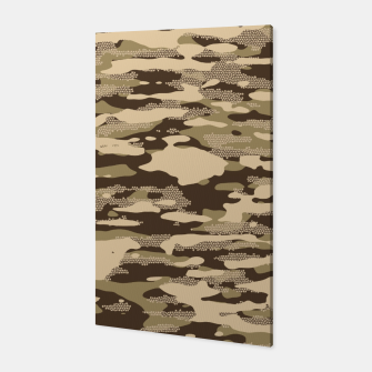 Miniatur Desert Camouflage Pattern Mosaic Style Canvas, Live Heroes