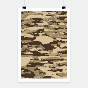 Miniatur Desert Camouflage Pattern Mosaic Style Plakat, Live Heroes