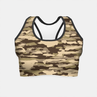 Miniatur Desert Camouflage Pattern Mosaic Style Crop Top, Live Heroes