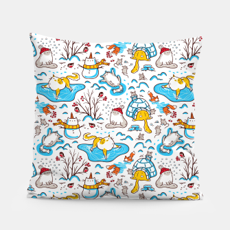 Imagen en miniatura de Winter Cats Pillow, Live Heroes