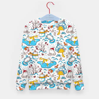 Miniatur Winter Cats Kid's sweater, Live Heroes